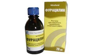 Фурацилин при потливости и запахе ног