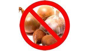 Не употребляйте лук и чеснок