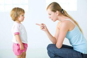Мама обьясняет ребенку